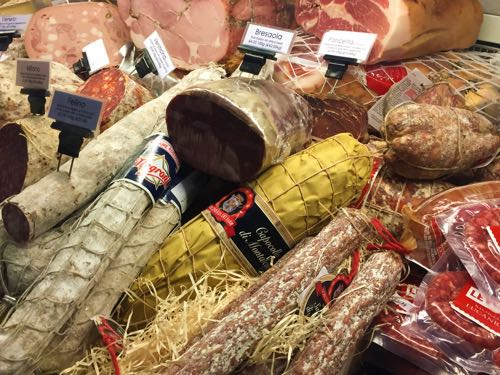 An extensive range of cured meats and sausages